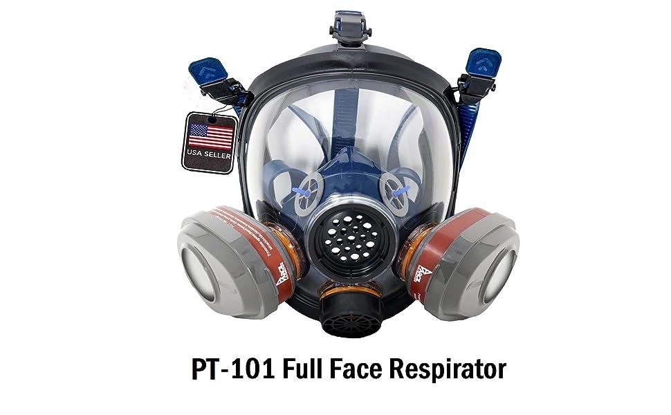 Full face respirator gas mask face shield