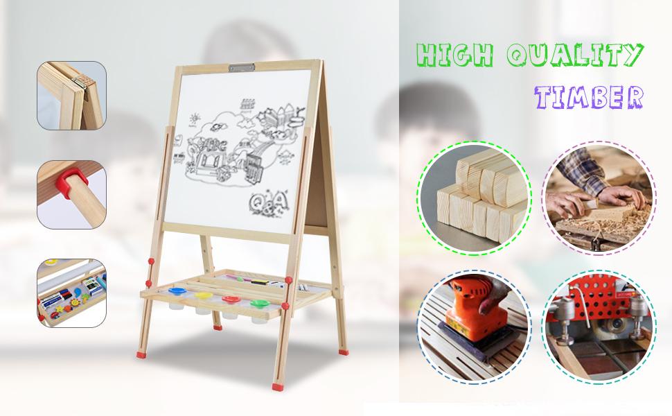 Kid's Wooden Art Easel