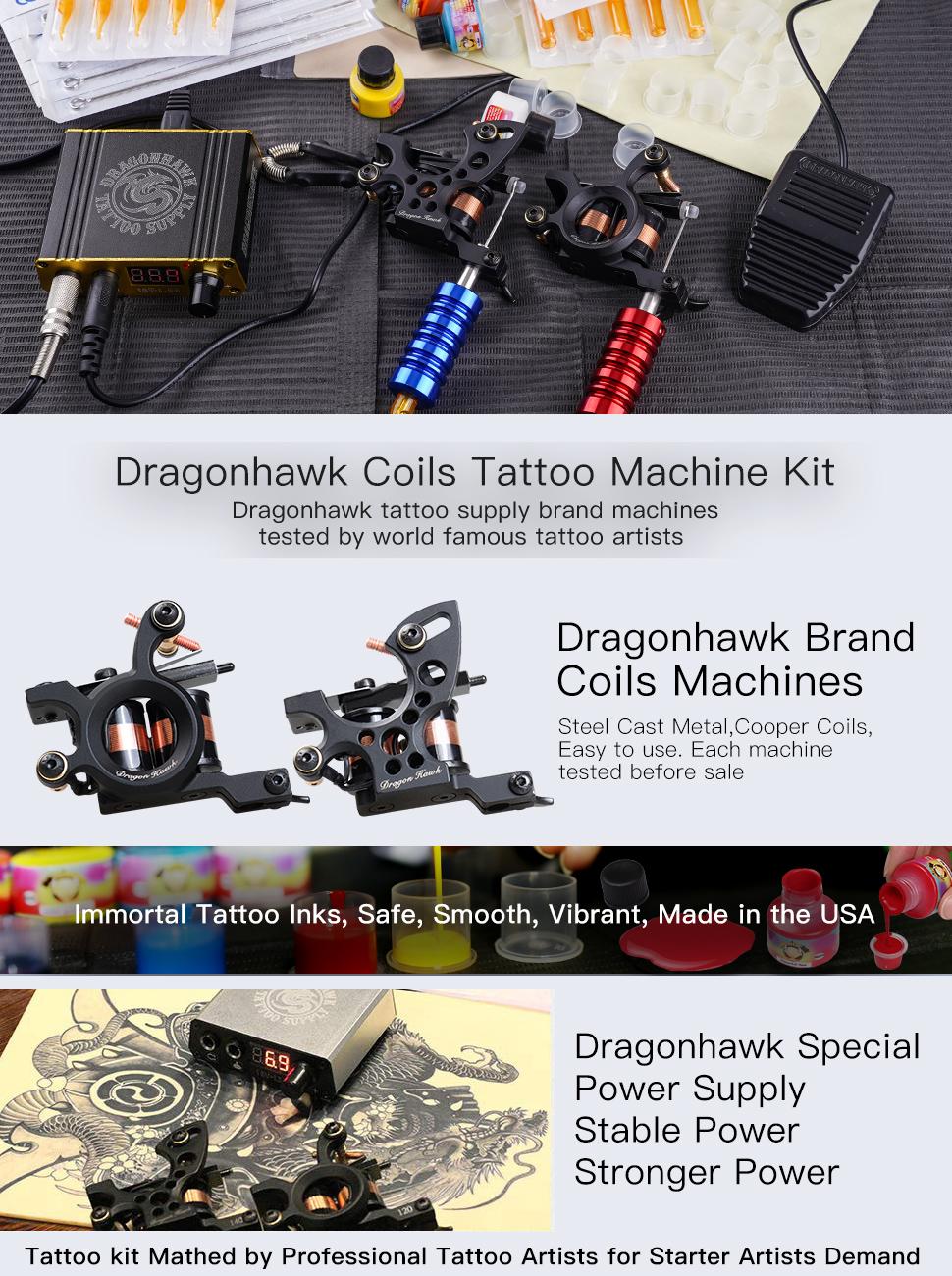 tattoo kit,beginner tattoo kit,liner tattoo machine,complete tattoo kits,