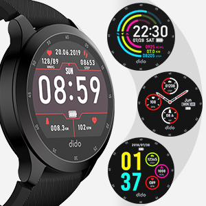 Fitness Tracker Bluetooth Smart Watch with Activity Tracking Heart Rate Sleep Monitoring Pedometer Notifications IP68 Waterproof Compatible with ...