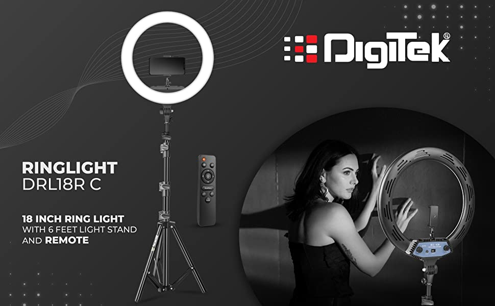 ring light; ring light with stand; light stand with light; video light; studio light; camera light