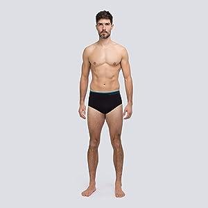 Runderwear Men's Briefs - Black, Model