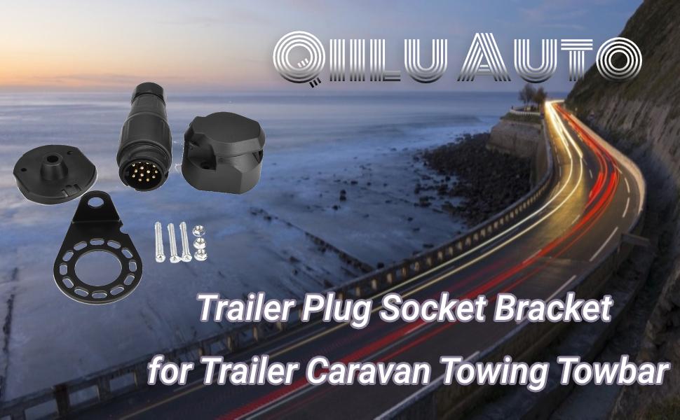 Qiilu 13 Polige Steckdose Adapter 13 Polig Für Die Verbindung Von Pkw Bzw Anhängerkupplung Mit 13 Poliger Steckdose Auf Anhänger Und Montagezubehör Auto