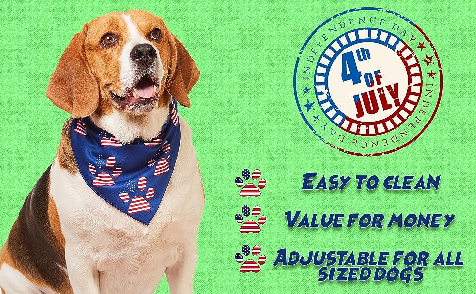 american flag bandanas large sized america accessories male military medium scarves patriotic puppy