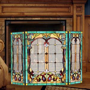 tiffany fireplace screen
