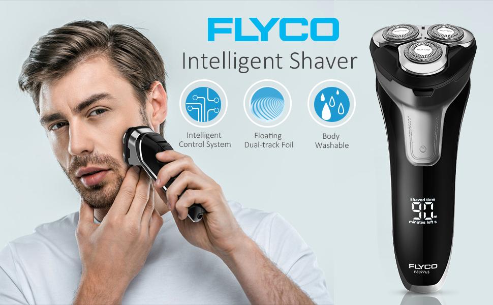 FLYCO Afeitadora Electrica Hombre, Máquina de Afeitar Inteligente con Display Digital, Uso en Húmedo y Seco, Bloqueo Inteligente con Funda de Viaje: Amazon.es: Salud y cuidado personal