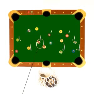 Billiard Hook and ring game board
