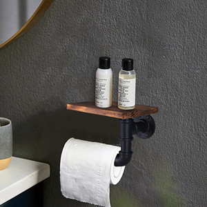 Industrial Toilet Roll Holder with Shelf
