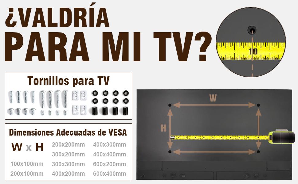 RFIVER Soporte TV con Ruedas de Suelo Carro Movil para Television de 32 a 70 Pulgadas con Altura Ajustable Inclinable MT1001: Amazon.es: Electrónica