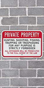 Private Property Trespassing Forbidden