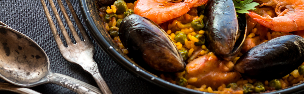 seafood paella pan cookware kitchenware cooking kitchen recipe spain spanish authentic Machika