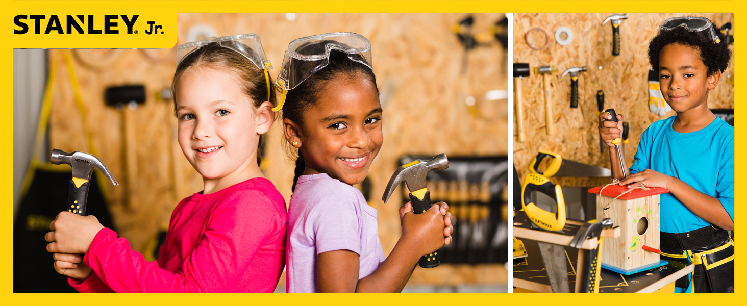 tools for kids, DIY kits, Woodworking, Wood building, Stanley, Stanley Jr., Building projects,
