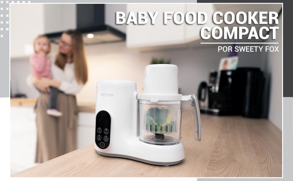 Babycook Robot de Cocina Multifuncion 6-en-1 para Bebé - Vapor, Batidora, Limpieza Automática, Esterilizador de Biberones, Recalentar, Descongelar - Robot Cocina Bebes: Amazon.es: Bebé