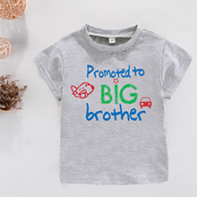 Amberetech Little Boys Promoted to Big Brother Print T Shirt Tops I/'m Going to Be a Big Brother Tees as Gift