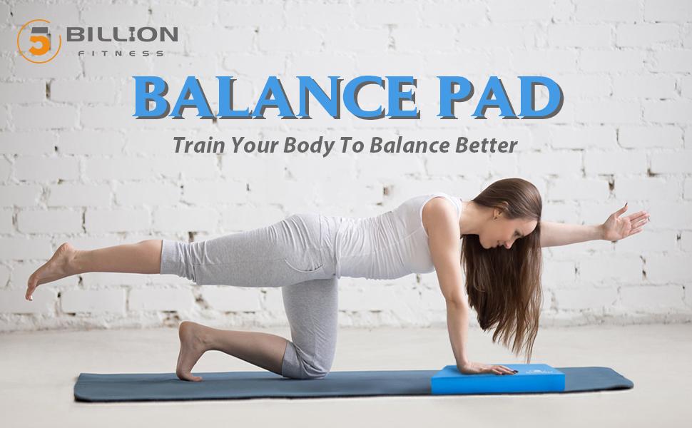 5BILLION Almohadilla de Equilibrio Balance Pad - 49cm x 39cm x 6cm - Almohadilla de Ejercicios & Equilibradora de Espuma Trainer - Cojín Oscilante ...