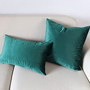 dark green pillow covers