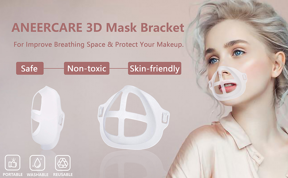 3D mask bracket for improve breathing space amp; protect your maskeup safe non-toxic skin-friendly