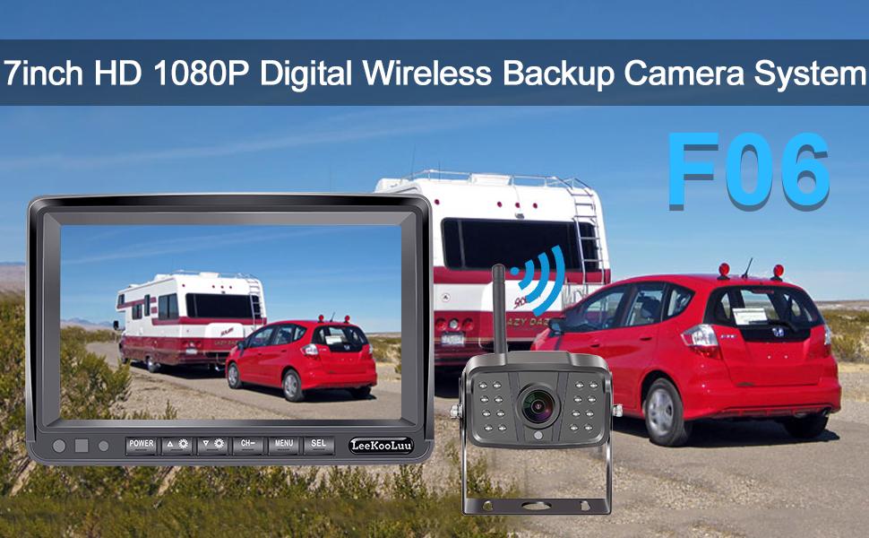 rv backup camera wireless with monitor