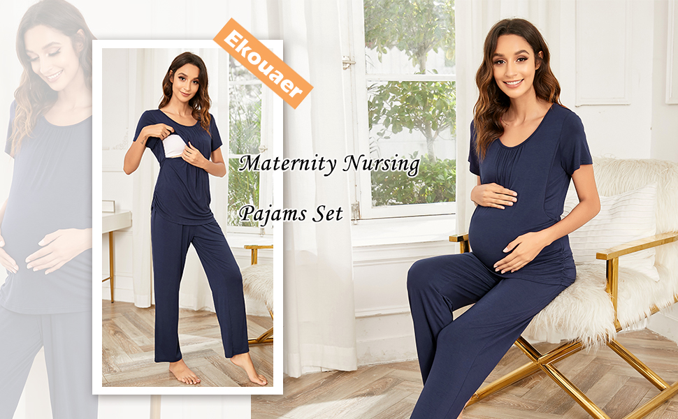 nursing pajamas for breastfeeding