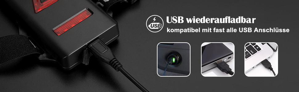 Lauflicht mit USB ladeanschluss