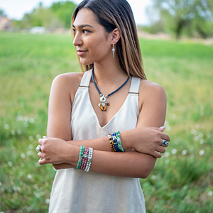 American West Jewelry sterling silver gemstone polish oxidized bold beautiful rope turquoise coral