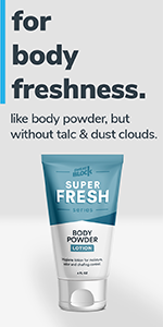 Super Fresh Body Powder Lotion for Men and Women by SweatBlock