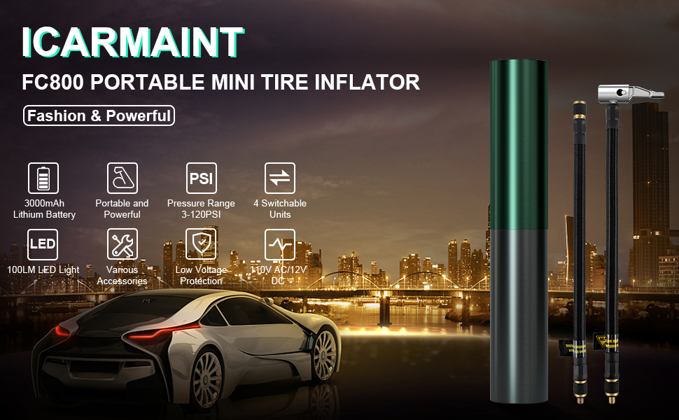 Portable Air Compressor Mini Tire Inflator