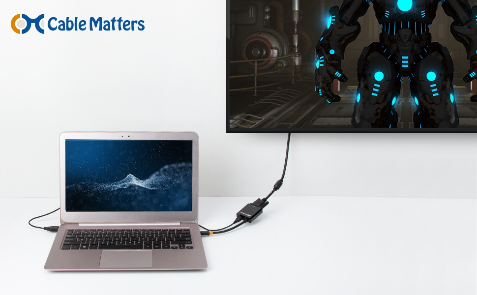 Cable Matters Adaptador Micro HDMI a VGA (Conversor Micro HDMI a ...