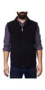 mens fleece vest vest for embroidering sweater vest zip up vest