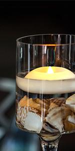 Flameless Wax Floating Tealight 6 Pack