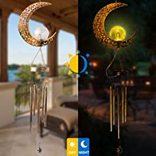 ShangTianFeng butterfly solar wind chimes