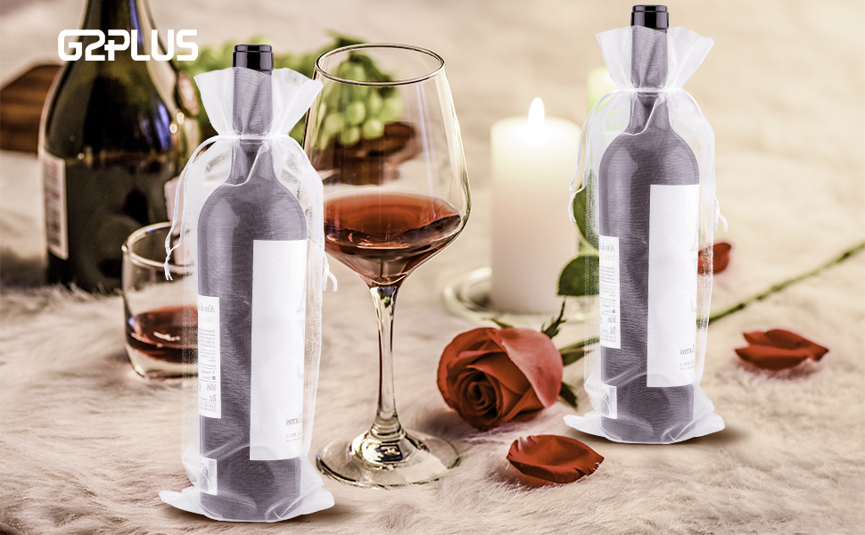 con asa ancha aceite de oliva color Negro M champ/án 10 bolsas de regalo de un solo color para botellas de vino 9.5 x 9 x 35cm
