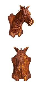 Paard hoofd - wanddecoratie in patina look