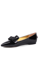 flats loafer shoes for women with bow knot