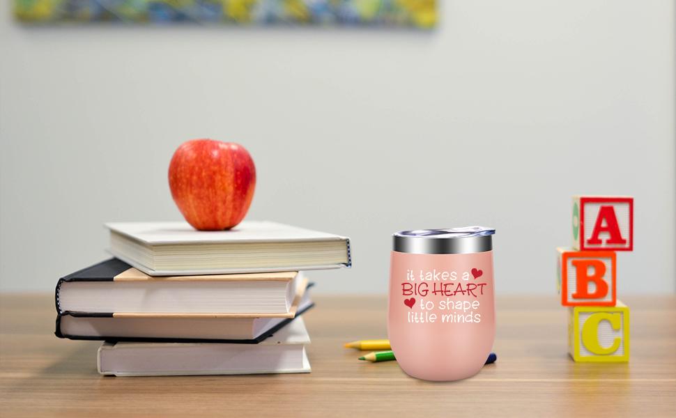 It Takes a Big Heart to Shape Little Minds gifts for teachers, best teachers, new teachers