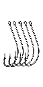 Forged long shanked fishing hooks