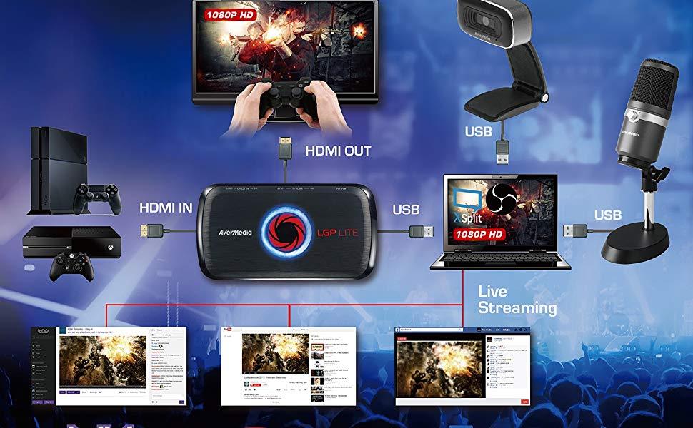 AVerMedia GL310 GC311 live Gamer Portable Lite MiNi 1080p Low Elgato 4K60 Mk1 Capture Card youtuber