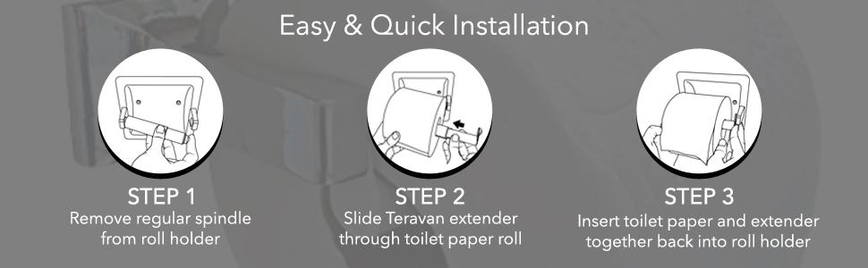 Large toilet paper roll holder extender.