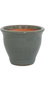 gray studio ceramic indoor/outdoor planter