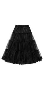 black underskirt