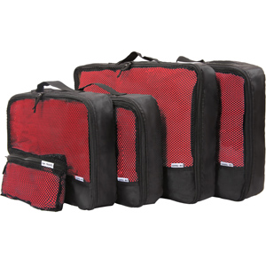 Black Packing cubes for suitcases. Luggage organiser set for travel backpacks cases closets