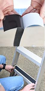stair indoor inside nonslip antislip nonskid ladder 4inch 30ft 3m clear shoe        waterproof