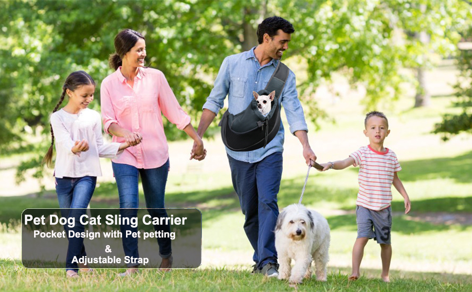 Hands Free Puppy Carrier for Small Dogs, Breathable Mesh Travel Safe Puppy Sling