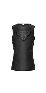 Youth Padded football vest black