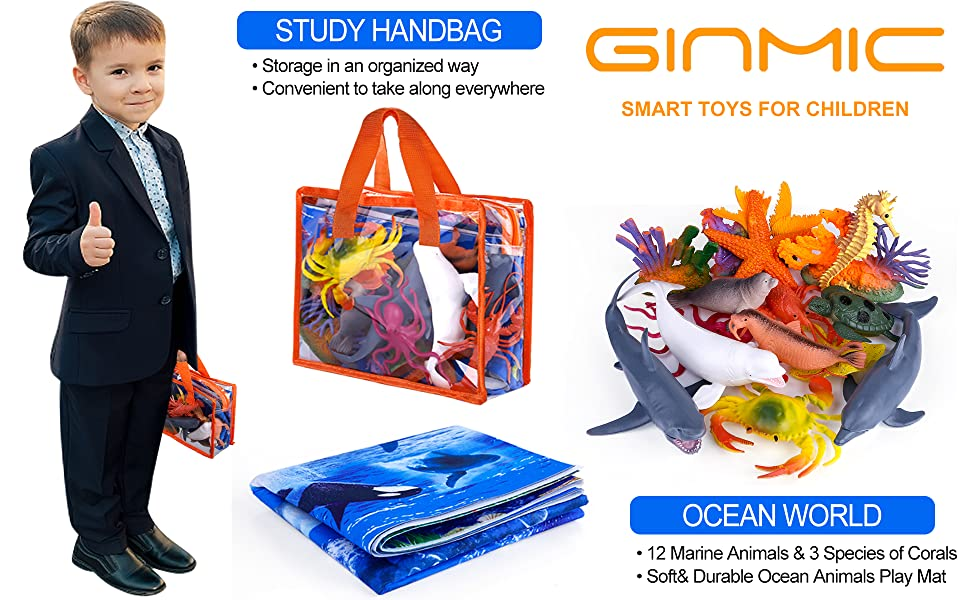 Ocean Animal Toys Playset