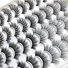 20 Pairs Mixed 4 Styles 3D Mink False Eyelashes Natural  Wispy Cross FluffyEyelashes