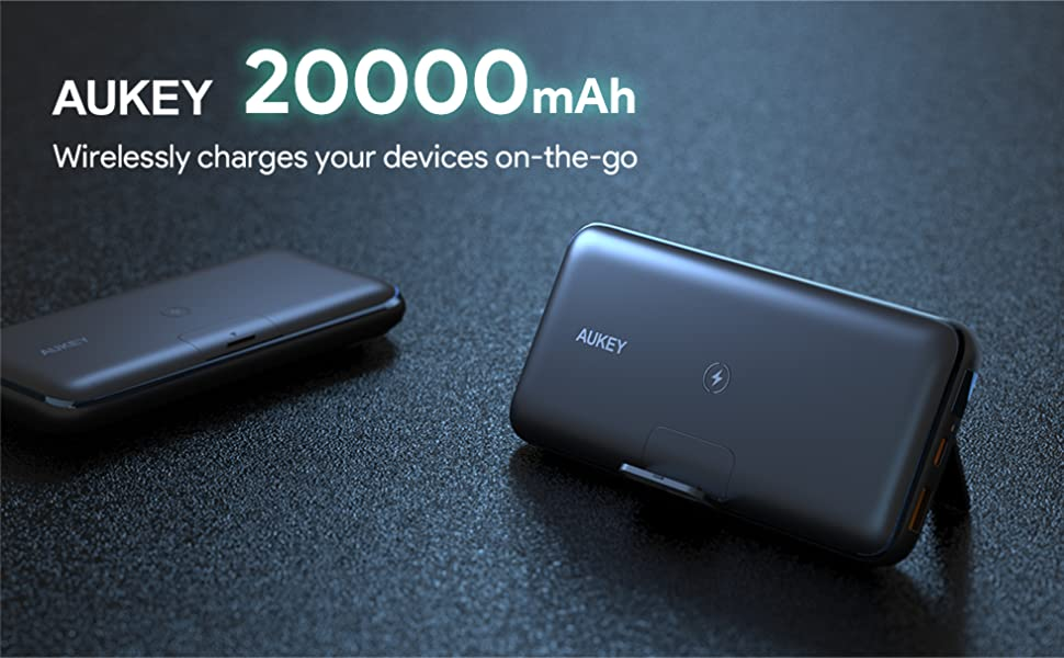 wireless power bank 20000mah portable charger usb c anker power bank aukey battery pack