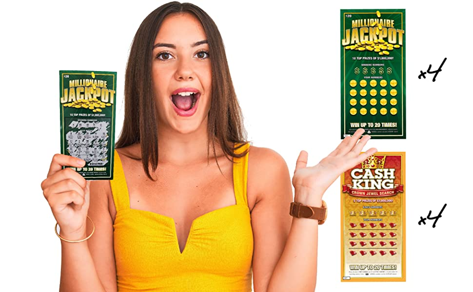 prank joke lottery scratch card ticket laughing smith millionaire rich big jackpot