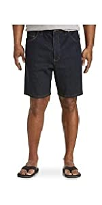 Harbor Bay by DXL Big and Tall Continuous Comfort Denim Shorts - Updated Fit,