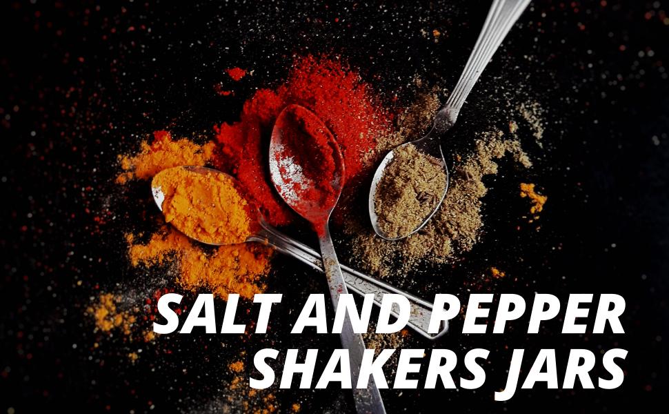 salt and pepper shakers jars